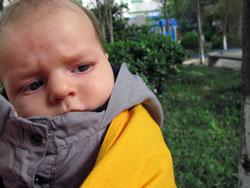 bébé écharpe de portage hiver