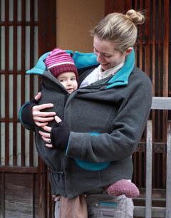 porter bébé en hiver chaud veste de portage