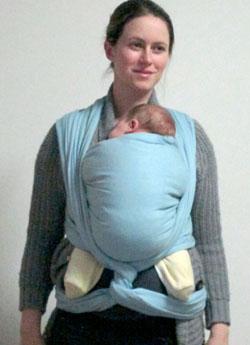 porter bébé en hiver écharpe de portage