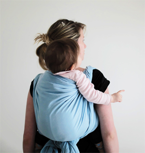 back carry in Ling Ling d'amou's baby wrap