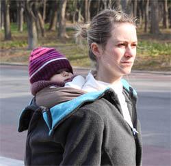 porter bébé porte-bébé en hiver
