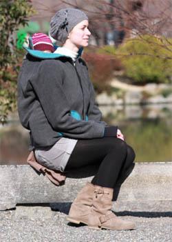 porter bébé en hiver veste de portage