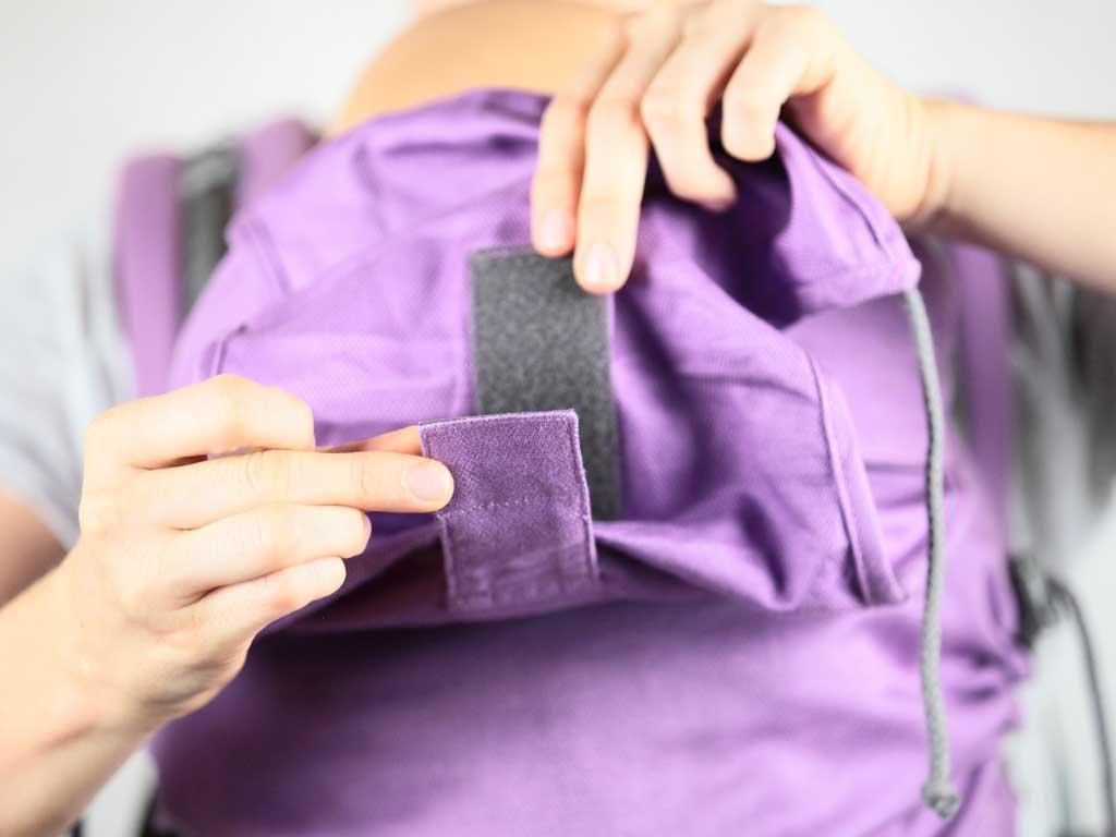 réglage en profondeur capuche préformé porte-bébé P4