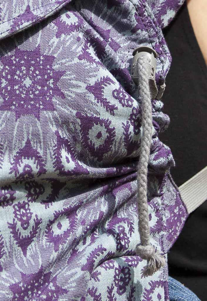 Les cordons sur les côtés P4 Taïga Purple LLA