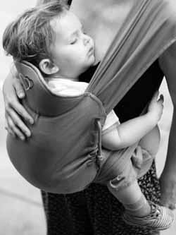 meitai porte-bébé physiologique appui-tête du Mid-Tai en position haute