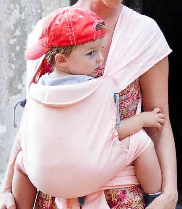 porte-bébé meitai physiologique Mid-Tai LLA sans renforcer l'assise