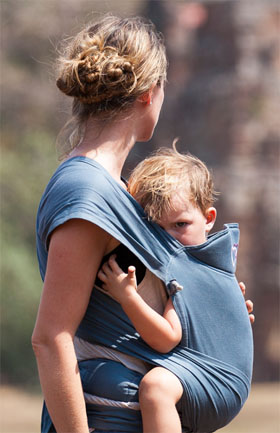 breastfeeding your baby in a meitai carrier