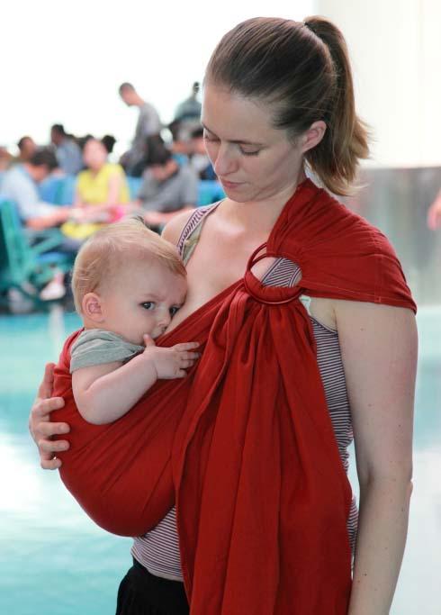 Allaiter bébé écharpe porte-bébé d'appoint sling LLA
