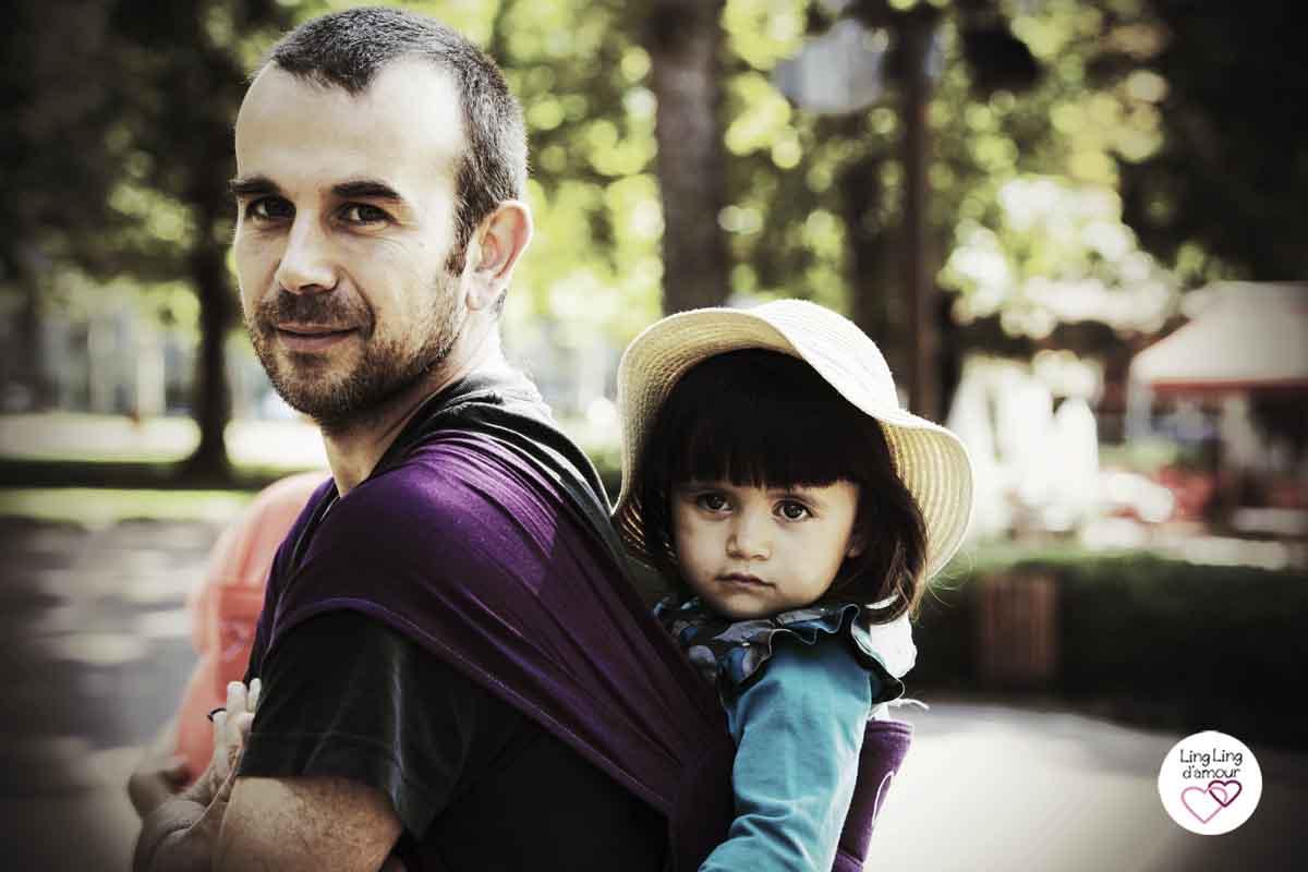 porter enfant 3 ans physiologique papa porteur Maxi-Taï meitai LLA