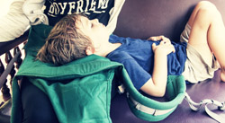 sleeping toddler in P4 carrier