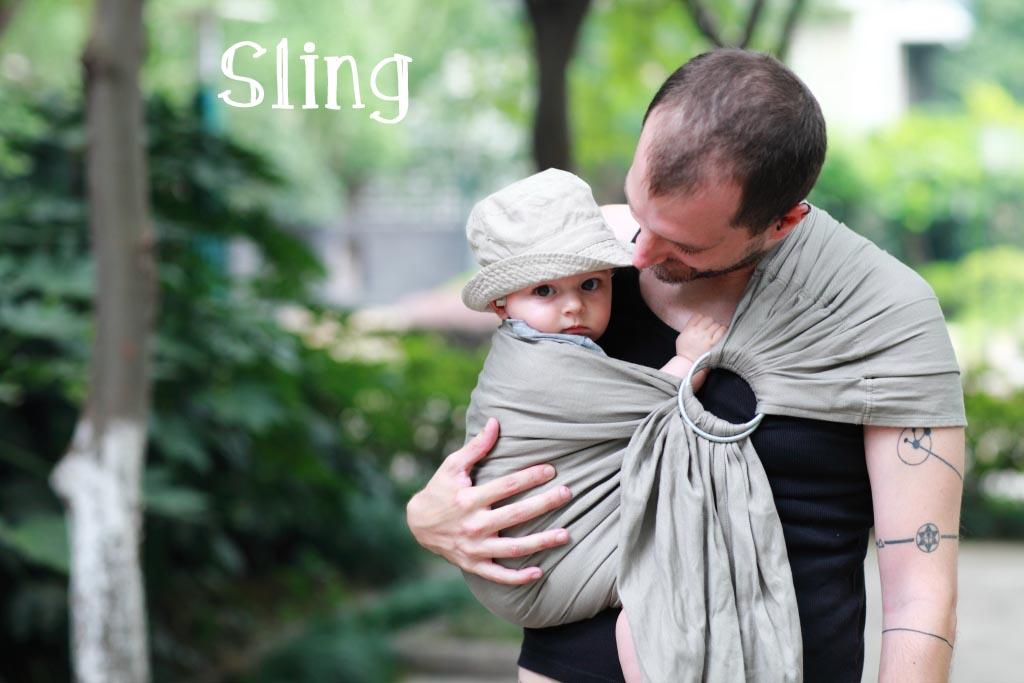 sling porte-bébé physiologique d'appoint LLA